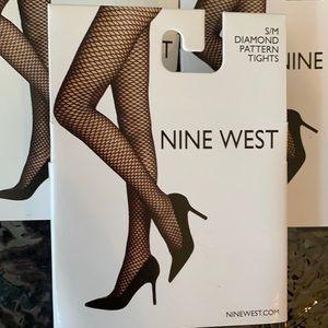 Nine West Fish Net Diamond Pattern Tights